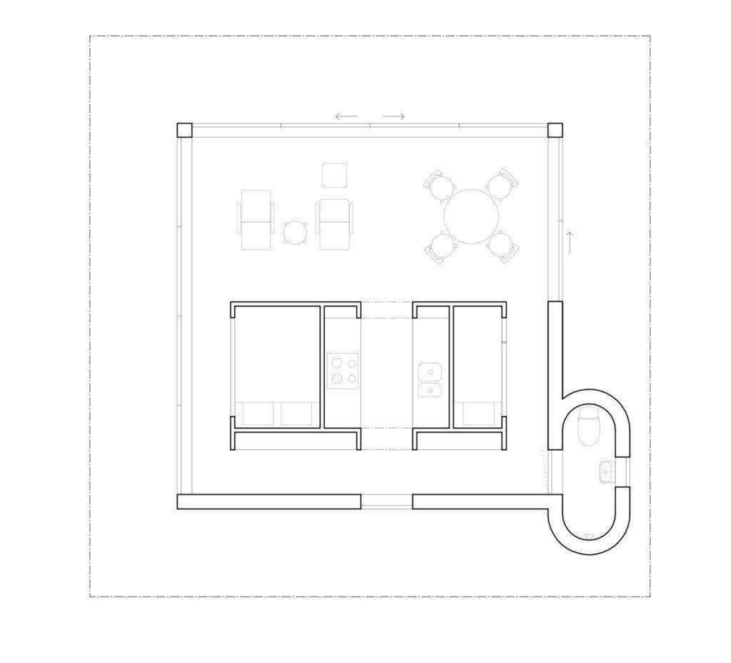 Summerhouse T - Krupinski Krupinska Arkitekter - Stockholm - Floor Plan - Humble-Homes
