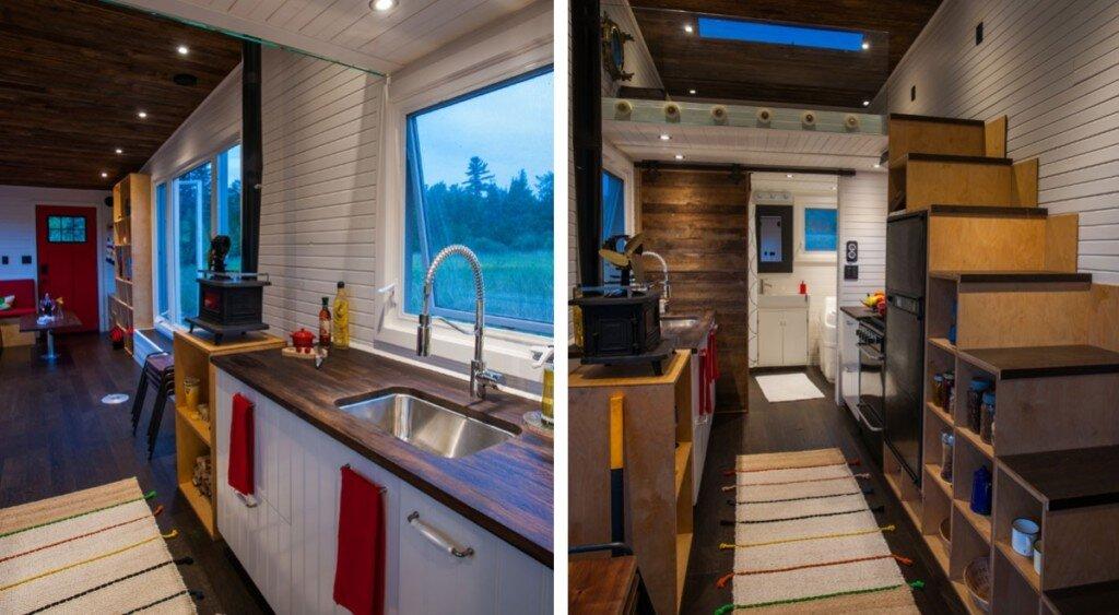 tiny-house-greenmoxie-david-shephard-and-ian-fotheringham-toronto-kitchen-and-staircase-humble-homes