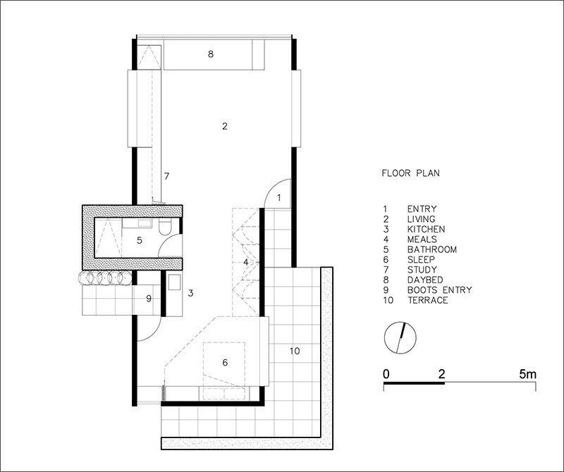 Balnarring Retreat - Branch Studio Architects - Australia - Floor Plan - Humble Homes