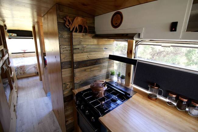 Bus Conversion to Tiny House - Bus Life NZ - New Zealand - Kitchen 2 - Humble Homes