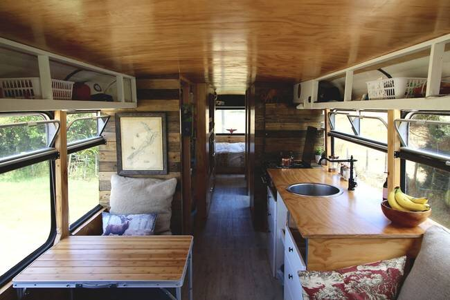 Bus Conversion to Tiny House - Bus Life NZ - New Zealand - Kitchen - Humble Homes