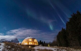 Nature House – A Cob House Enveloped by a Geodesic Dome in the Arctic Circle