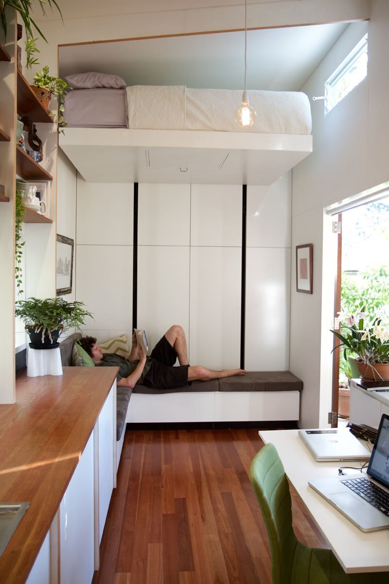 The Pods - Greg Thornton - The Tiny House Company - Australia - Floating Bed - Humble Homes