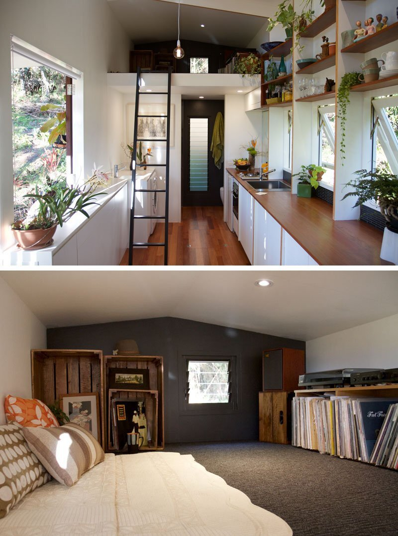 The Pods - Greg Thornton - The Tiny House Company - Australia - Interior and Loft - Humble Homes