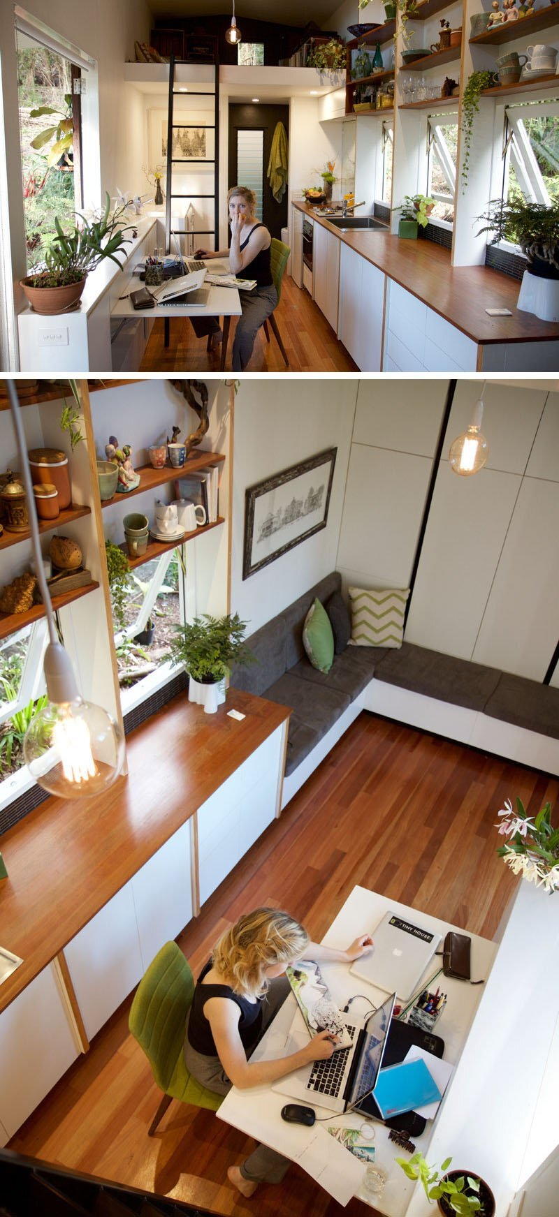 The Pods - Greg Thornton - The Tiny House Company - Australia - Kitchen and Study - Humble Homes