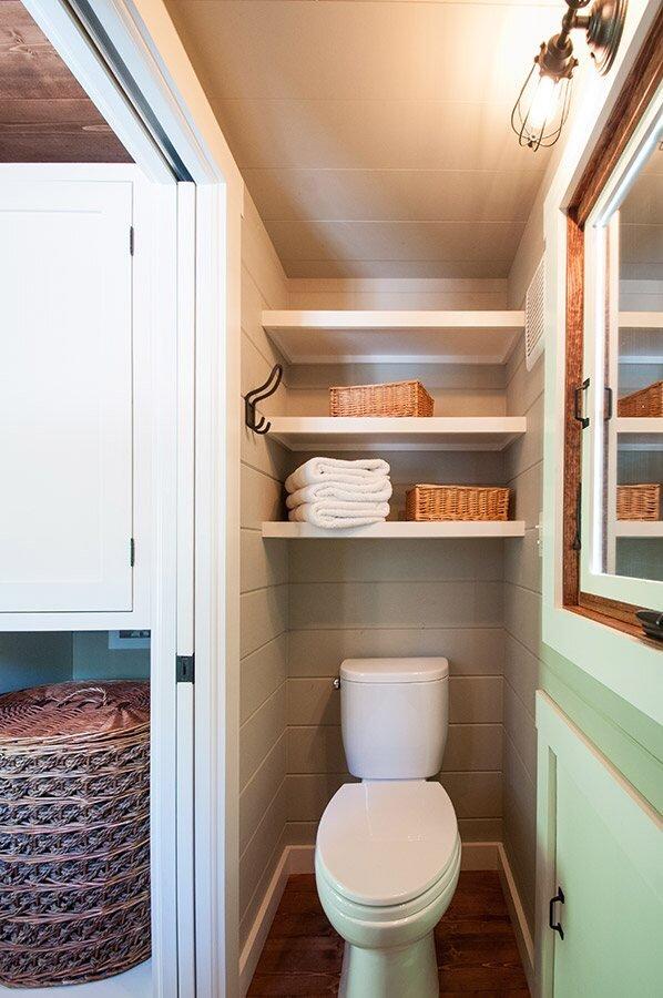 Tiny House on Wheels - Timbercraft Tiny Houses - Guntersville Alabama - Bathroom - Humble Homes