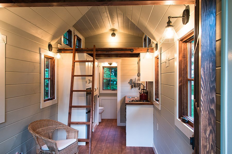 Timbercraft tiny homes create beautifully finished custom for Small house interior