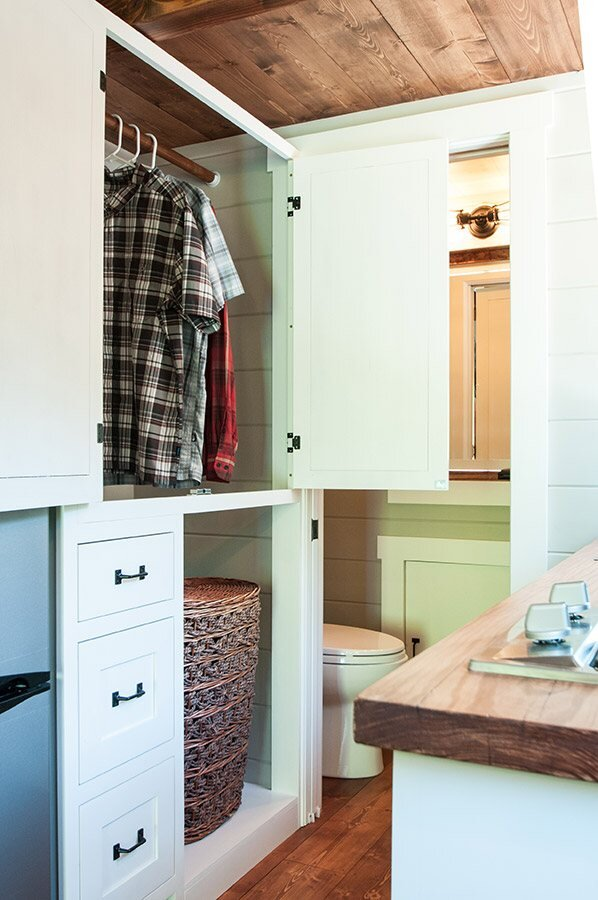 Tiny House on Wheels - Timbercraft Tiny Houses - Guntersville Alabama - Storage - Humble Homes