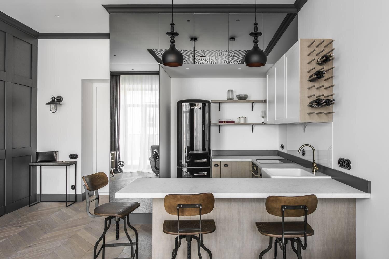 Apartment In Vilnius Old Town - Interjero Architektūra - Lithuania - Kitchen - Humble Homes