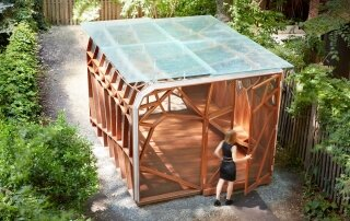 Dragonfly Pavilion – A Garden Shed Inspired by the Wings of a Dragonfly