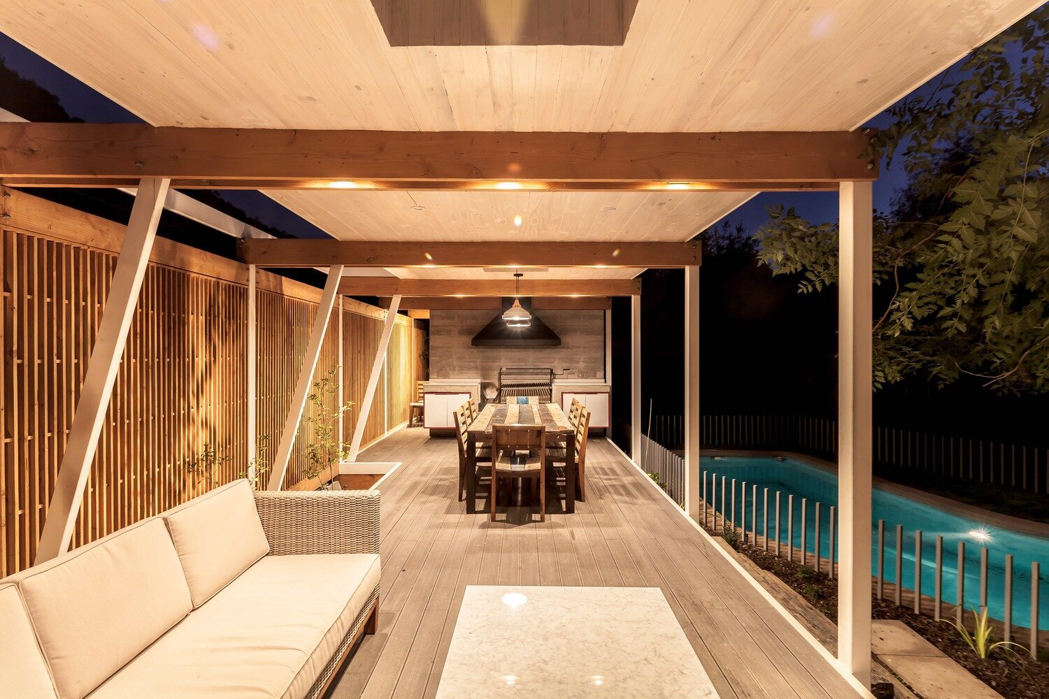 Pergola Pavilion - PAR Arquitectos - Chile - Living Area - Humble Homes