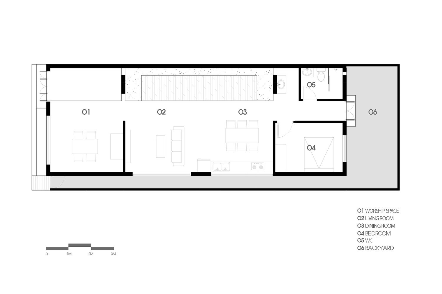 TP House - Sawadeesign Studio - Vietnam - Floor Plan - Humble Homes