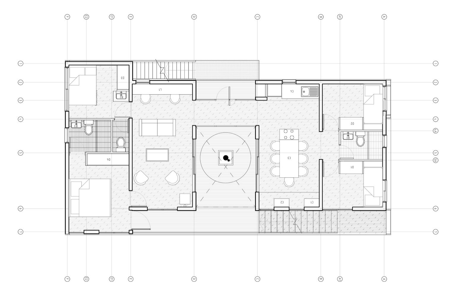 The Folding House - B+V Arquitectos - Chile - Floor Plan - Humble Homes