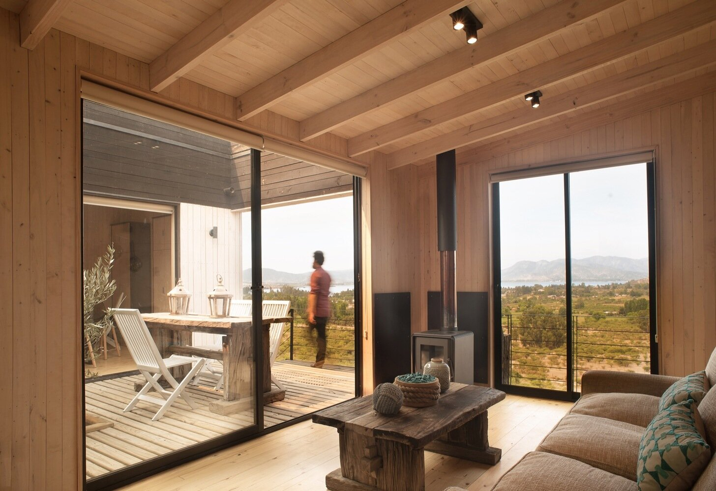 The Folding House - B+V Arquitectos - Chile - Living Room - Humble Homes