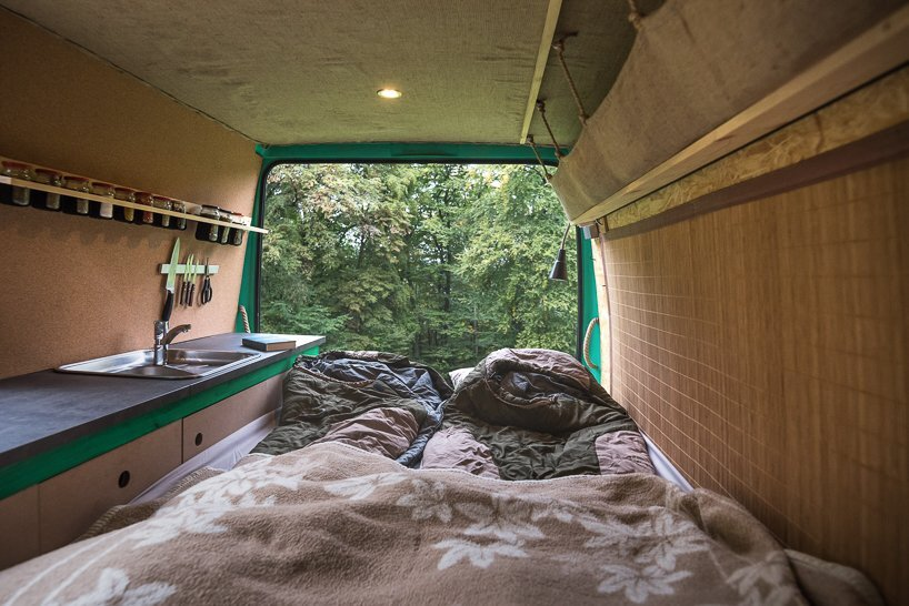Van Conversion - Norbert Juhász - Hungary - Bed - Humble Homes