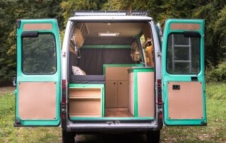 Norbert Juhász Converts a 16-Year-Old Van into a Mobile Home