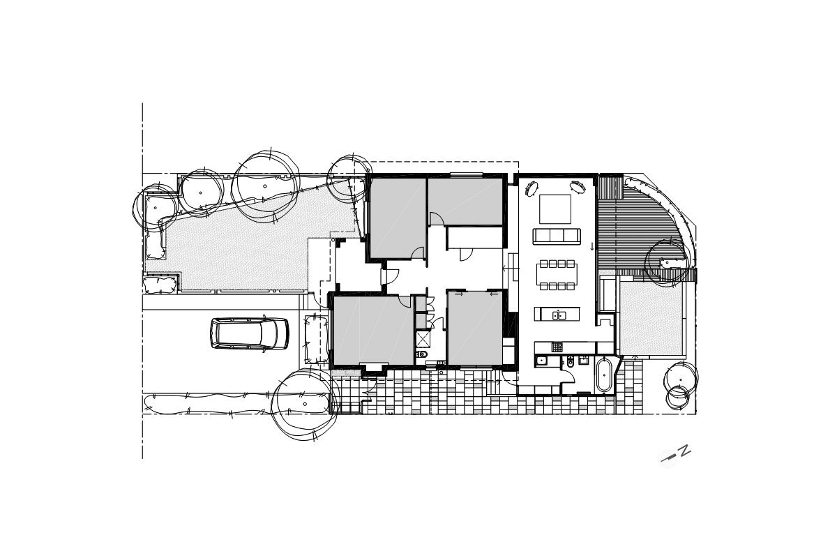 Gresley Monk Residence - Gresley Abas Architects + Justine Monk Design - Australia - Floor Plan - Humble Homes