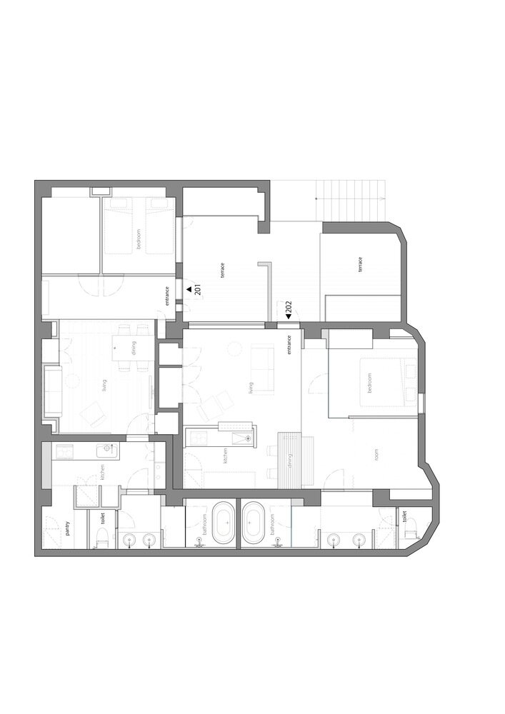 Shibuya Apartment 202 - Hiroyuki Ogawa Architects - Japan - Floor Plan - Humble Homes