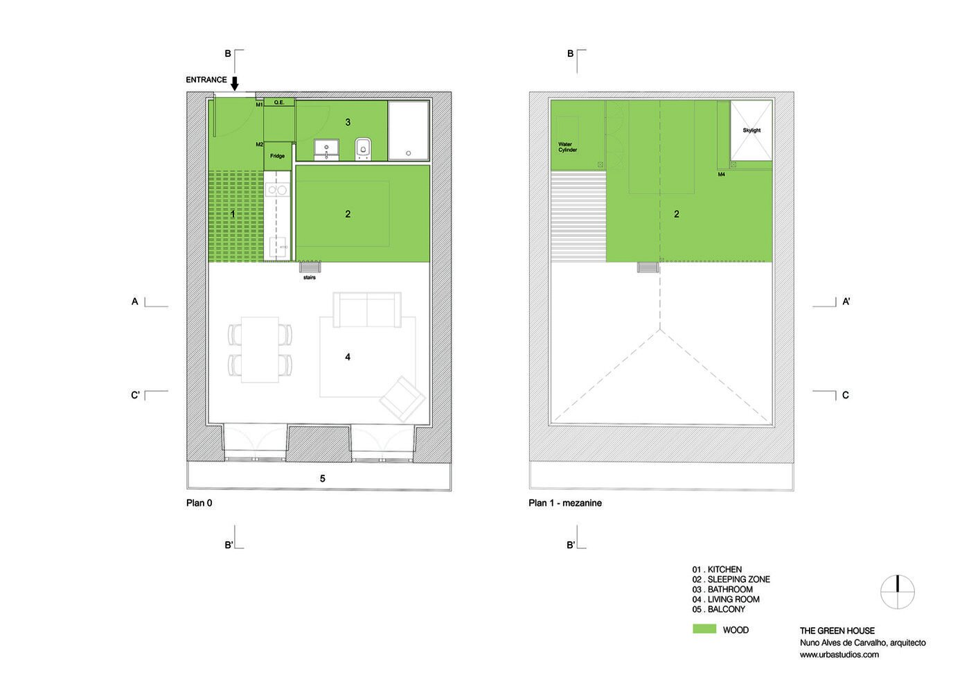 The Green House - URBAstudios - Portugal - Floor Plan - Humble Homes