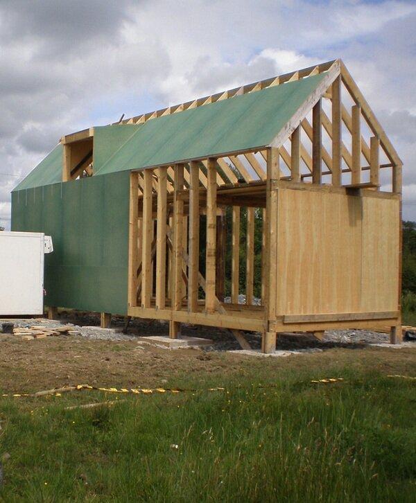 Sheathing of Tiny House
