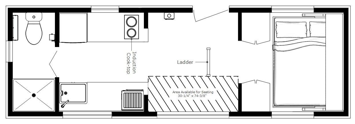 Karens Tiny Turtle House – Micro Cabin Floor Plans