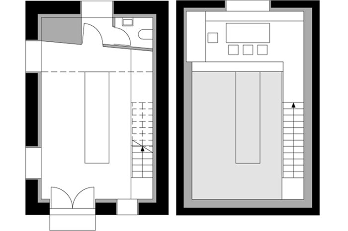 Atelier Kitchen Haidacher - Lukas Mayr Architekt - Atelierk Bei Nacht - Small House Floor Plans - Humble Homes