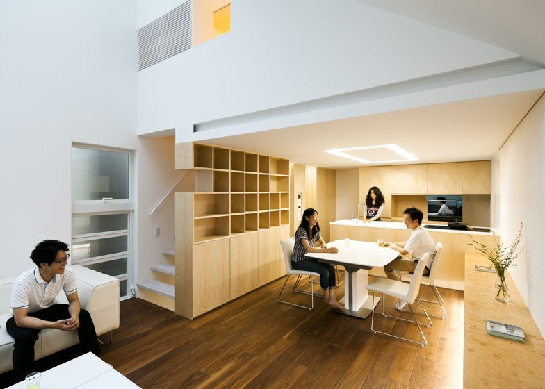 Atelier Tekuto - Tokyo Japan - Small House with Skylight - Living Room & Kitchen - Humble Homes