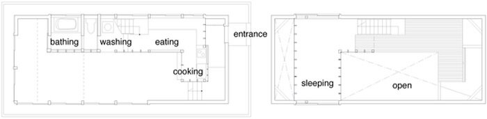 Cottage in Tsumari Floor Plan - Future Scape Architects - Japanese House - Humble Homes