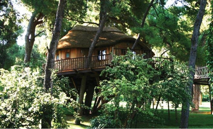 High Tech Hideaway - Blue Forest - Treehouse Retreat - Exterior - Humble Homes