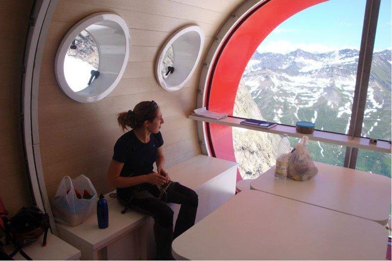 New Refuge Gervasutti Interior Seating - LEAPfactory - Humble Homes