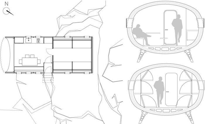 New Refuge Gervasutti - LEAPfactory - Floor Plan - Humble Homes