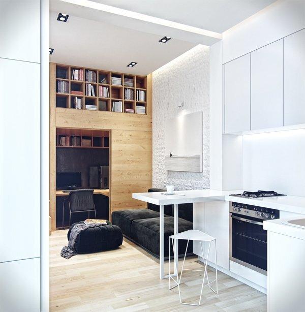 Small Apartment in Odessa Ukraine by Denis Svirid - Kitchen - Humble Homes