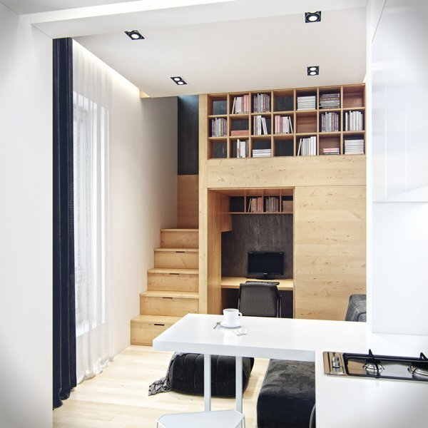 Denis Svirid\'s Small, Stylish Apartment in the Ukraine