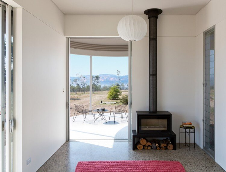 Southern Highlands House - Ben + Penna Architecture - Small Office  - Wood Stove - Humble Homes