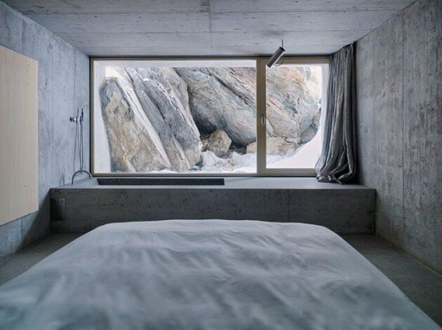 Swiss Alpine Cabin by Georg Nikisch and Selina Walder - Bed Room - Humble Homes