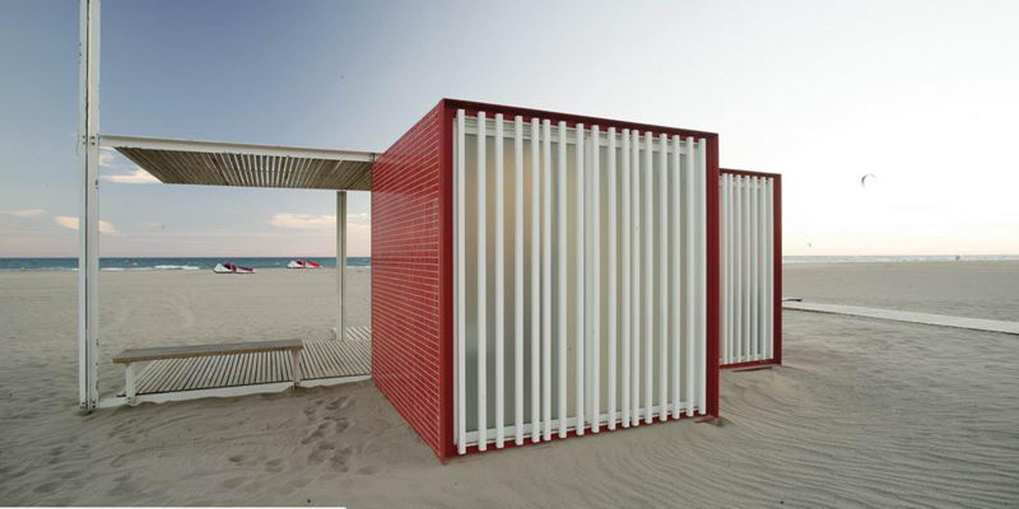 Beach Modules - Màrius Quintana Creus - Red Module Exterior - Humble Homes