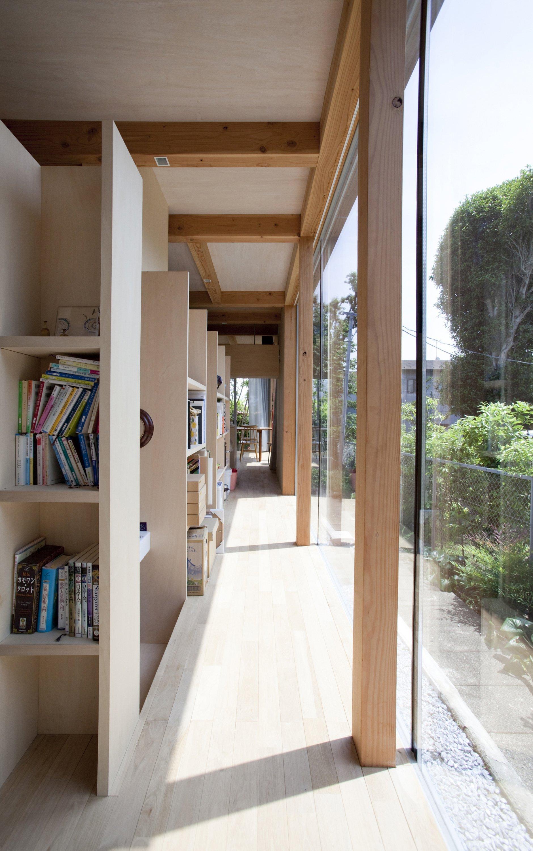 Double Circular Rings - Todoroki - Teppei Fujiwara Architects Labo - Small House Japan - Corridor - Humble Homes