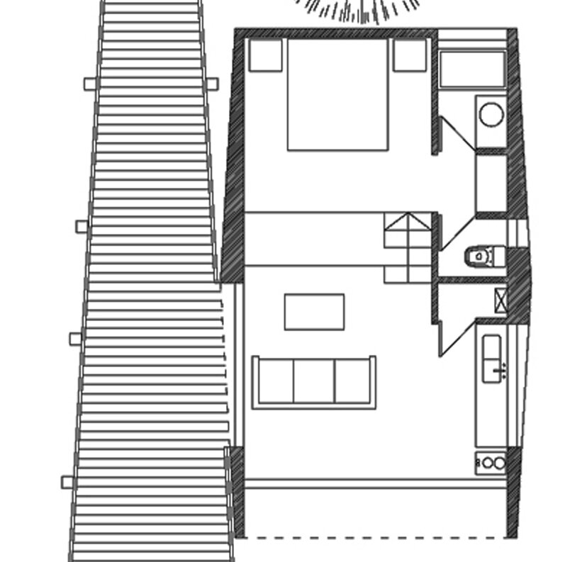 Quebrada House - UNarquitectura - Small House in Chile - Floor Plan - Humble Homes
