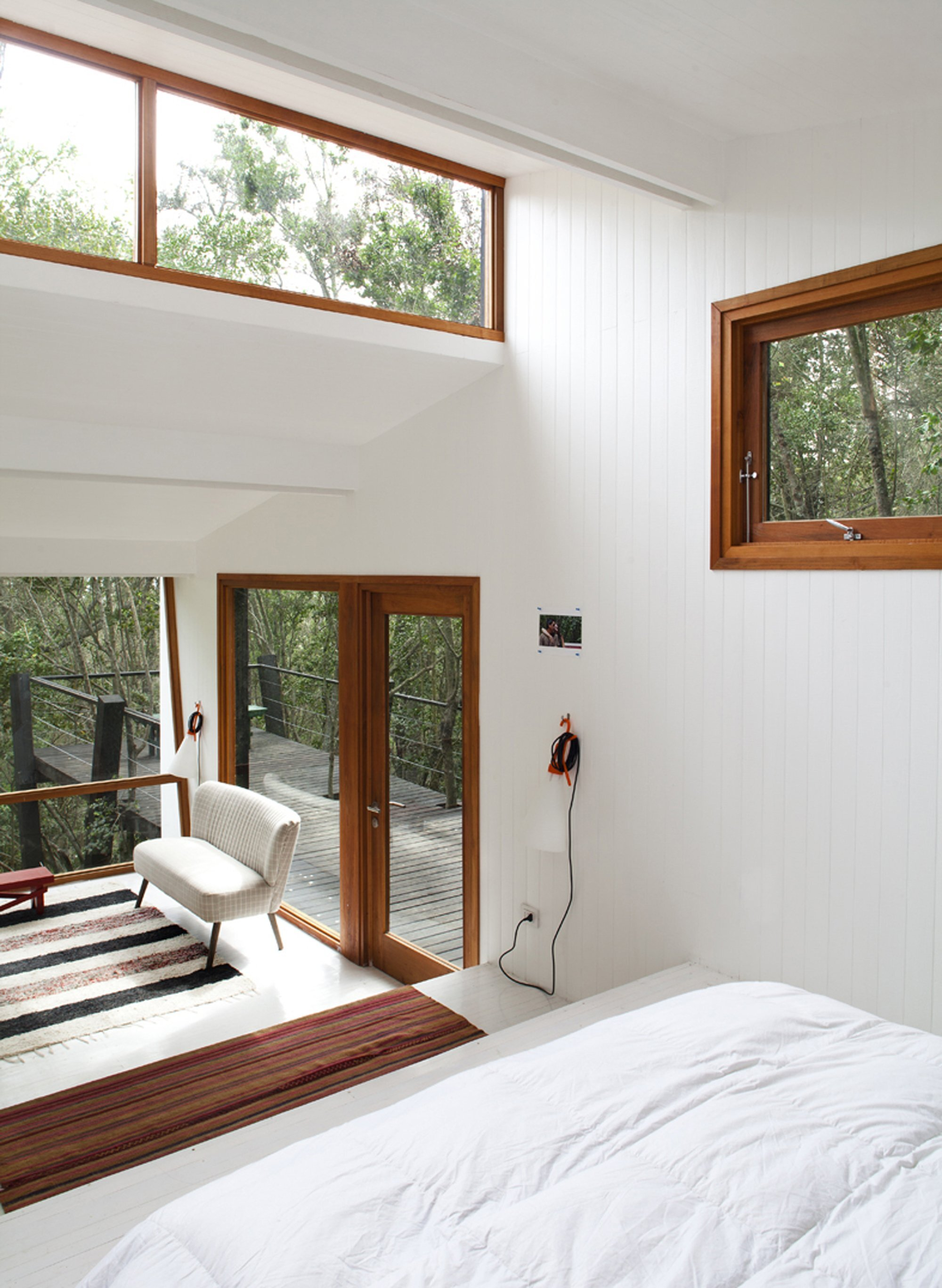 Quebrada House - UNarquitectura - Small House in Chile - View from Bedroom - Humble Homes