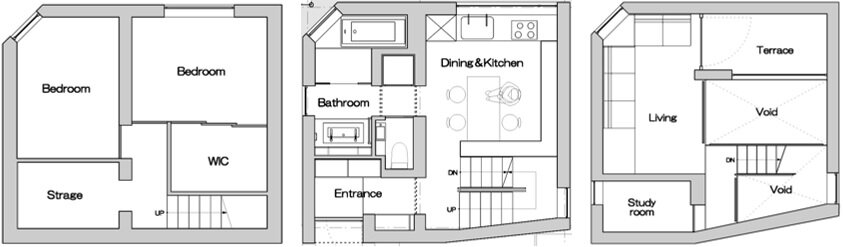 Shirokane House by MDS - Tokyo - Japan - Small House - Floor Plan - Humble Homes