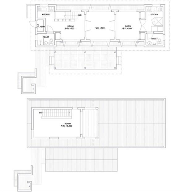 Studio Gaon - Small House in Yeoju - Family Reunions - Floor Plan - Humble Homes