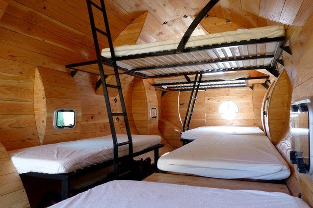 Back To Basics Sleeping Quarters French Hiking Trail Interior Bunks Humble Homes