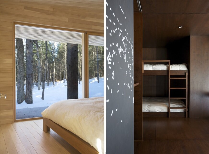 La Luge House by YH2 Architects - Quebec Canada - Bedroom - Humble Homes