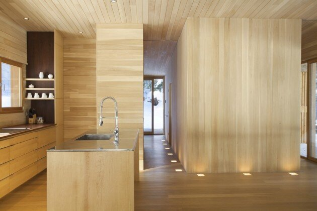 La Luge House by YH2 Architects - Quebec Canada - Kitchen - Humble Homes