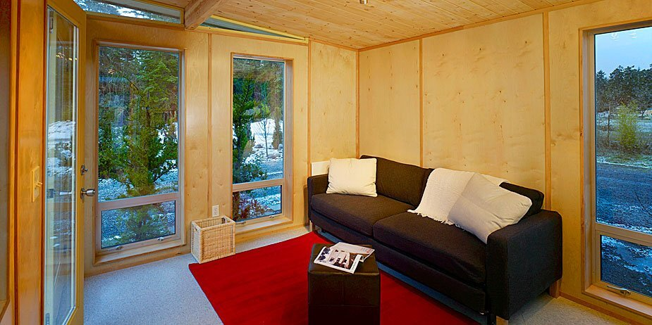 Modern Shed - Ryan Grey Smith - Ahna Holder - Seattle - Sitting Area - Humble Homes