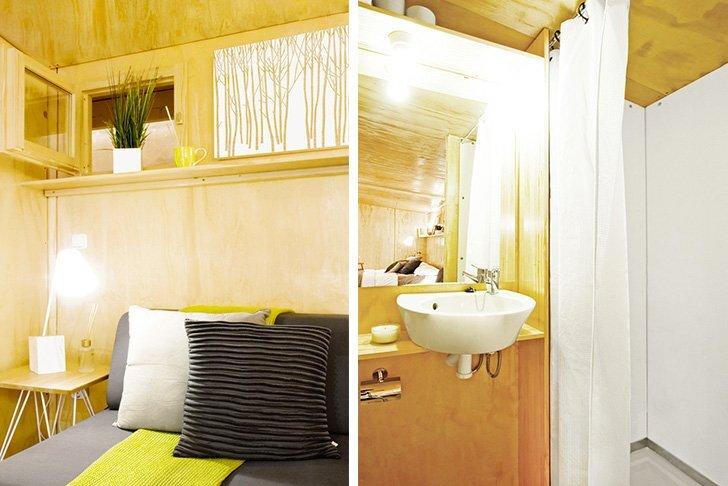 viVood - Prefab House by Daniel Mayo Pardo - Spain - Tiny House - Bathroom & Bedroom - Humble Homes