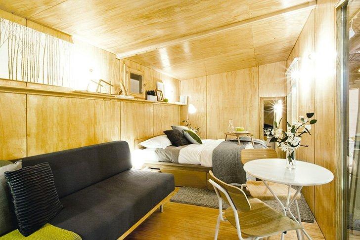 viVood - Prefab House by Daniel Mayo Pardo - Spain - Tiny House - Bedroom - Humble Homes