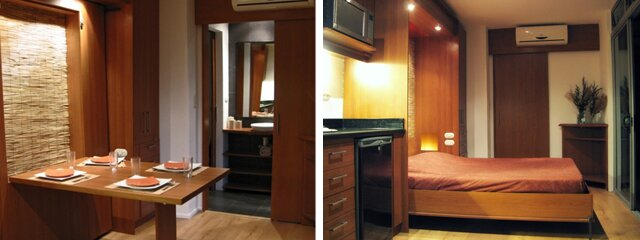 Casa Cubica - Container Home - Dining & Bedroom - Tiny House - Humble Homes