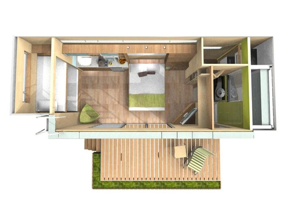 Casa Cubica Container Home Floor