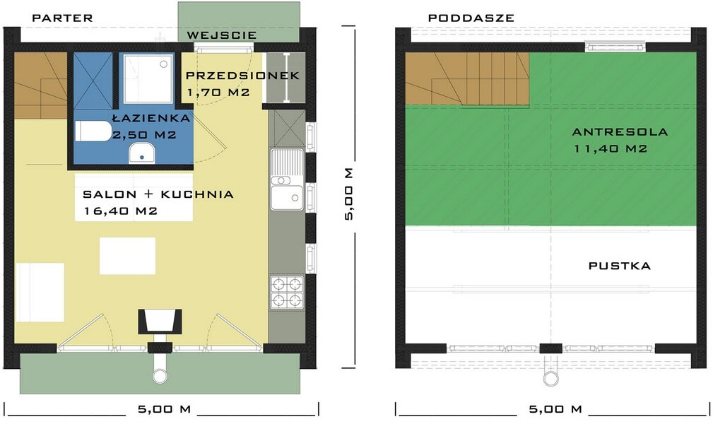 DOM XS - Small House - Poland - Floor Plan - Humble Homes